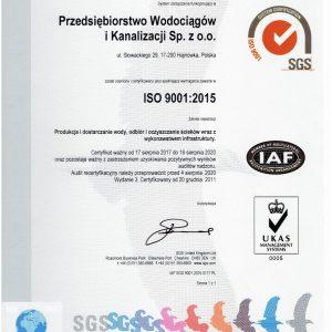 W dniach 02 sierpnia do 04 sierpnia 2017r odbył się audit recertyfikacyjny na zgodność z ISO 9001:2015 Decyzją Jednostki recertyfikacyjnej SGS Polska Sp. z o.o. nasz system zarządzania został zarejestrowany jako spełniający wymagania norm ISO 9001:2015